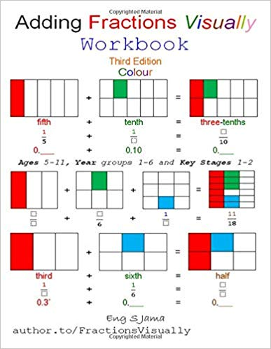 Adding Fractions Visually Workbook : Eng S Jama